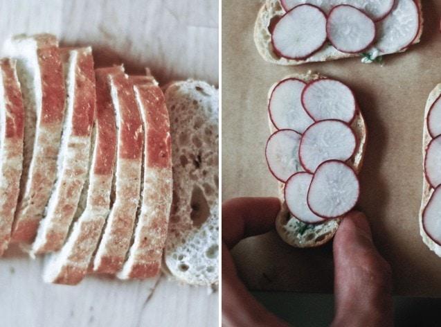 radish sandwiches.001 Radish Dill Tea Sandwiches