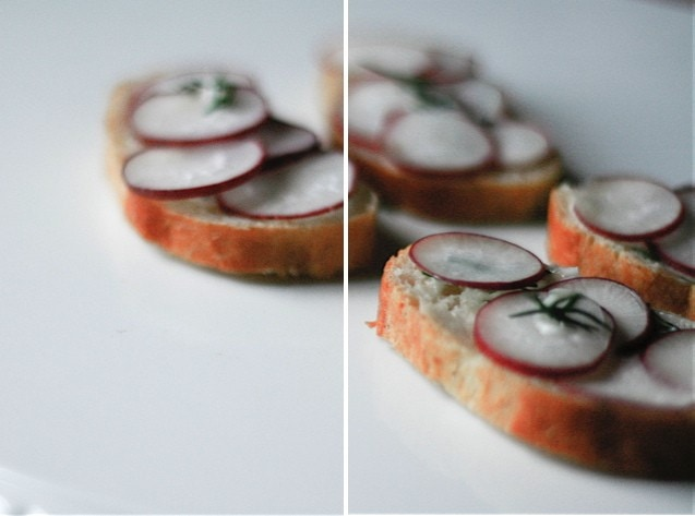 radish-dill sandwiches