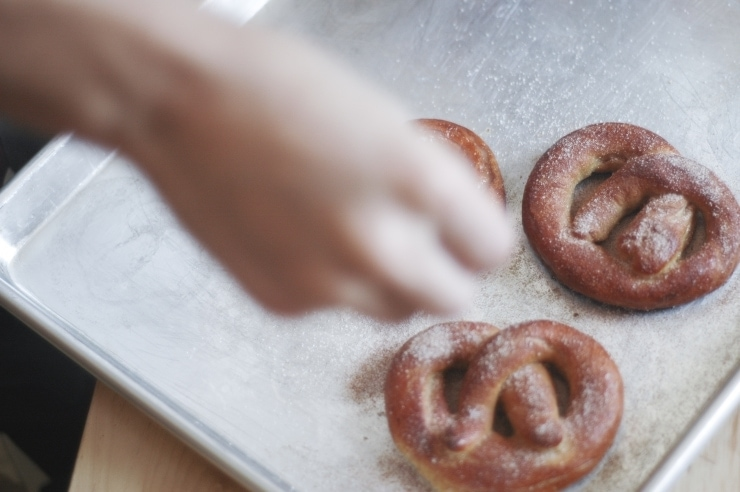 Cinnamon Sugar Pretzels Recipe | sophisticatedgourmet.com
