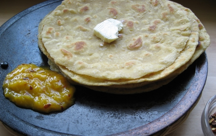 Indian Parathas (Chapatis) and Mango Chutney Recipe | sophisticatedgourmet.com