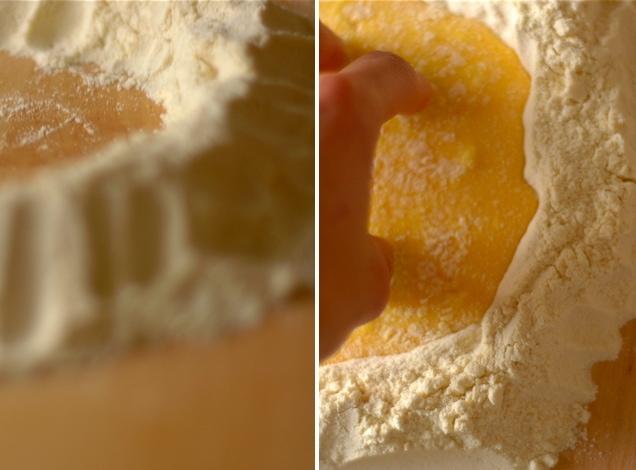 egg yolks and flour