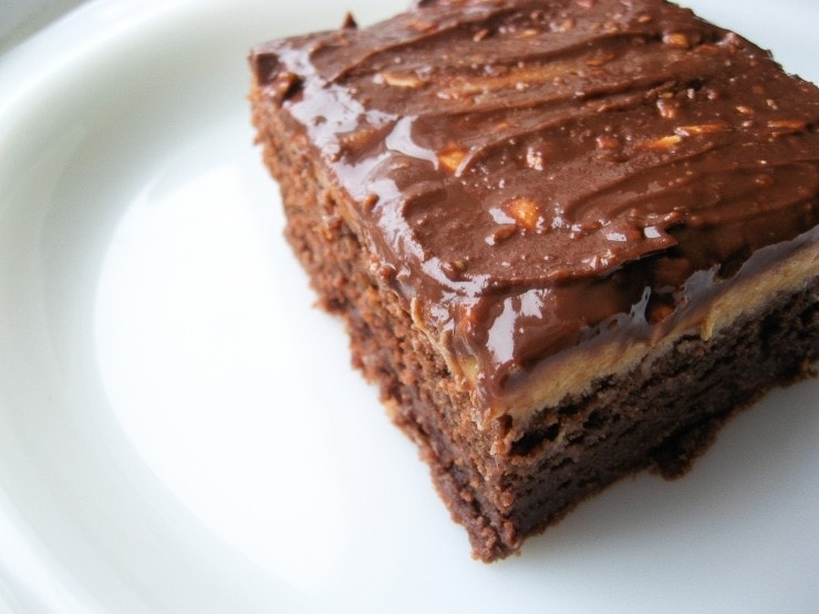 Peanut Butter Milk Chocolate Brownies Recipe | sophisticatedgourmet.com