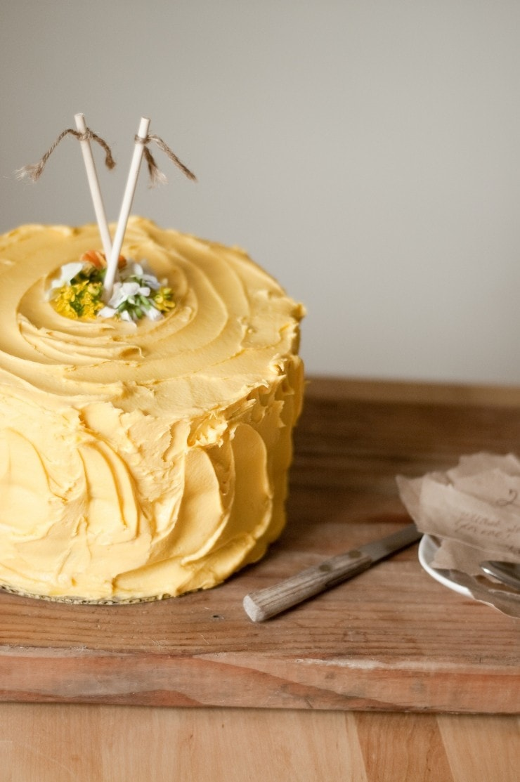 Yellow Birthday Cake Recipe | sophisticatedgourmet.com