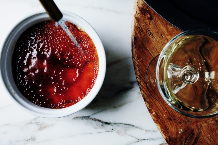 An easy and innovative take on a classic French Crème Brûlée. Get that crispy top without a torch! | sophisticatedgourmet.com