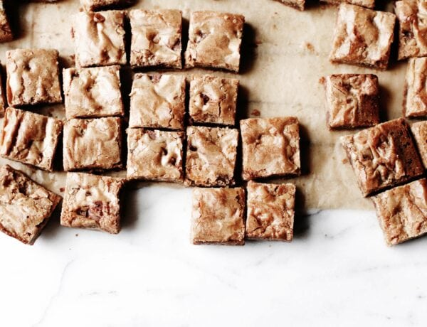 The most irresistible butterscotch-flavored blondies you'll ever make. All you need is one pan and basic pantry ingredients. | sophisticatedgourmet.com