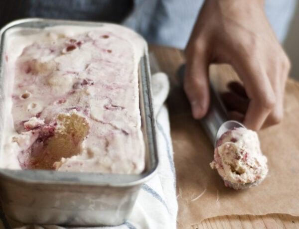Strawberry Swirl Ice Cream Recipe