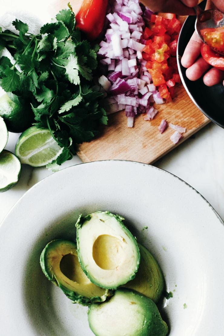 Avocado in bowl