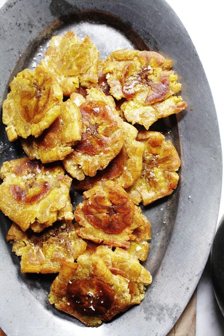 Tostones on Platter
